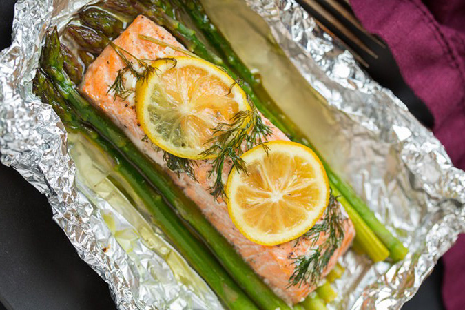 Salmon and asparagus recipe
